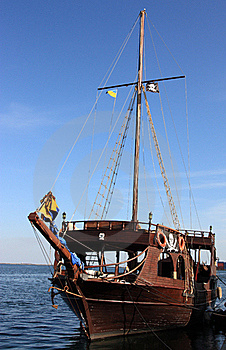 Old Piratical Frigate Stock Image - Image: 21355611