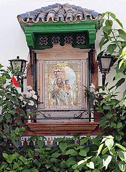Catholic Religious Shrine Or Icon Royalty Free Stock Photography - Image: 21355737