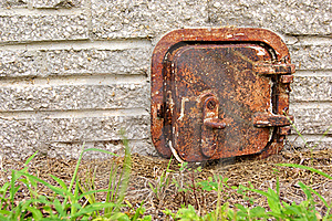 Old Rusted Iron Door Royalty Free Stock Photography - Image: 21355797