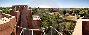 Panoramic View Of Moroccan Architecture Royalty Free Stock Photography - Image: 21357567