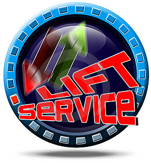 Service Lift Royalty Free Stock Photos - Image: 21360578