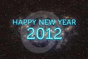 2012 Happy New Year Greeting Royalty Free Stock Photography - Image: 21363277
