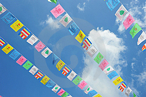 String Of  Flags Stock Photography - Image: 21363542