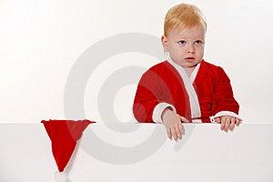 Criança Vestida Como Papai Noel Fotos de Stock - Imagem: 21366813