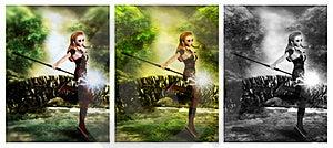 Cute Magician Royalty Free Stock Image - Image: 21367006