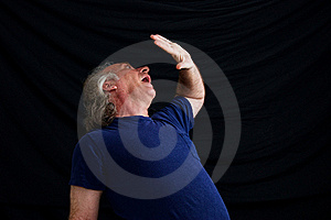 Man Cowering In Fear Royalty Free Stock Photos - Image: 21371698