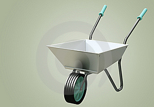 3D Wheelbarrow Chromium Stock Photography - Image: 21371782