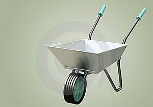 3D Wheelbarrow Chromium Stock Photography - Image: 21371782