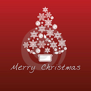 Red Christmas Background Stock Images - Image: 21372104