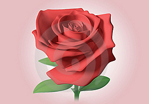 3D Red Rose Royalty Free Stock Photos - Image: 21374418