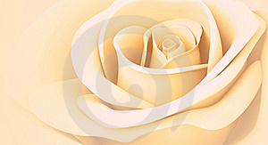 3D Light Orange Rose Stock Image - Image: 21374521
