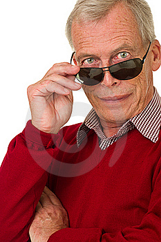 Senior With Shades Royalty Free Stock Photos - Image: 21375808