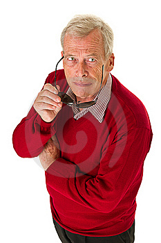 Senior With Shades Royalty Free Stock Images - Image: 21375829