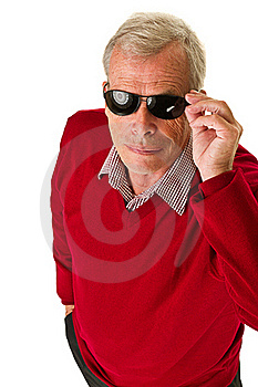 Senior With Shades Royalty Free Stock Images - Image: 21375849