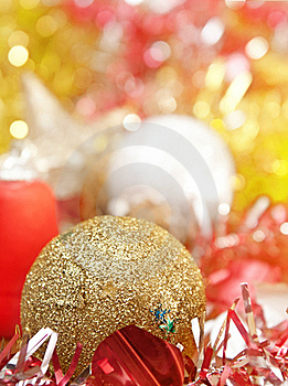 Christmas Decoration With Shiny Glare Royalty Free Stock Image - Image: 21379486