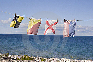 Nautical Signal Flags Stock Images - Image: 21379714