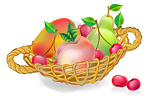 Basket With Fruits Collection Royalty Free Stock Images - Image: 21382419