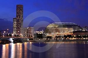 Esplanade Theater With City Hall Stock Image - Image: 21385461