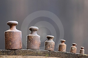 Old Weights Royalty Free Stock Photos - Image: 21386598