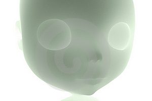 3D Face X-ray Blythe Royalty Free Stock Image - Image: 21390686