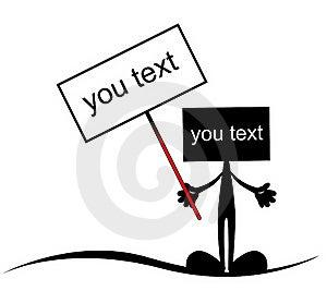 Placera Text Royaltyfri Bild - Bild: 21391656