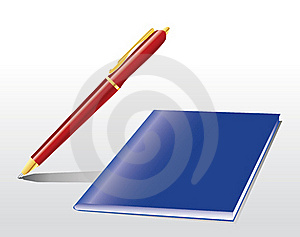 Pen And Notebook Stock Image - Image: 21392831