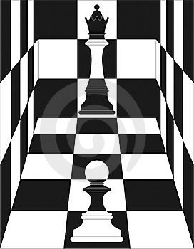 Chess, Queen And Pawn Stock Image - Image: 21394161