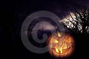 Scary Pumpkin Royalty Free Stock Photography - Image: 21397917