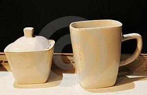Cup And Sugar Bowl Royalty Free Stock Photo - Image: 2143185