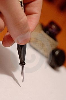Hand writing Stock Images