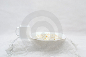 White Breakfast Stock Image - Image: 2149411