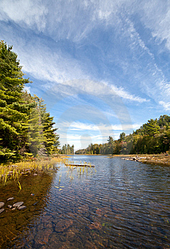 Carpenter Lake Clear Water Landscape Vista Royalty Free Stock Image - Image: 21402036