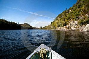 Paddling On The Lake Royalty Free Stock Photo - Image: 21402095
