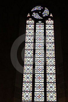 Stained Glass Window In Church Royalty Free Stock Photos - Image: 21402508