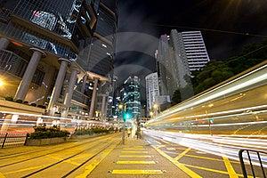 Urban Traffic At Night Royalty Free Stock Photos - Image: 21403458