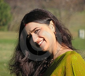 Beautiful Young Indian Married Woman Smiling Stock Photos - Image: 21404583