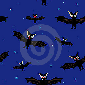Bat In A Dark Blue Sky Royalty Free Stock Image - Image: 21405596