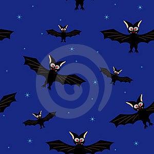 Bat In A Dark Blue Sky Royalty Free Stock Image - Image: 21405596