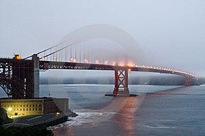 Fog Over Golden Gate Bridge During Sunset Stock Image - Image: 21412951