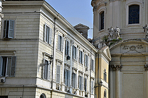 Two Sided Rome Building Stock Image - Image: 21424631