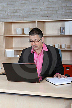 Man Checking His Email Stock Photography - Image: 21427382
