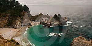 Big Sur Waterfall Royalty Free Stock Photos - Image: 21428308
