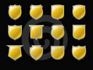 Golden Shields Royalty Free Stock Photo - Image: 21432215