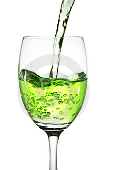 Green Cocktail Into Glass Royalty Free Stock Photos - Image: 21435068