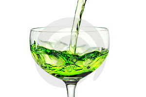 Green Martini Cocktail Into Glass On White Backgro Stock Image - Image: 21435091