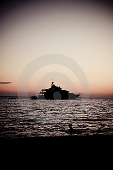 Yacht At The Sea Royalty Free Stock Photography - Image: 21438317