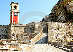 Exterior Of Old Fortress Of Kerkyra City. Royalty Free Stock Photos - Image: 21438798