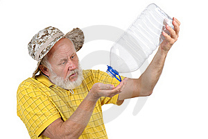 Senior Man With Empty Plastic Bottle Stock Images - Image: 21441044