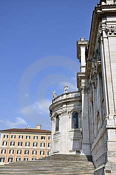 Santa Maria Maggiore Side Royalty Free Stock Image - Image: 21441566