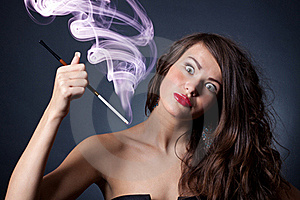 Crazy Young Woman Royalty Free Stock Images - Image: 21444689